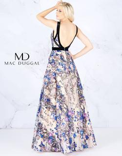 Style 40898 Mac Duggal Multicolor Size 4 Backless Floral Ball gown on Queenly