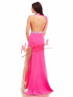 Style 48271 Mac Duggal Pink Size 4 Prom Backless Pageant Side slit Dress on Queenly