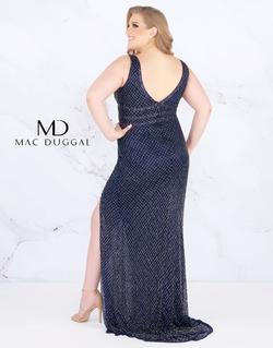 Style 4850 Mac Duggal Blue Size 24 Plus Size Pageant Side slit Dress on Queenly