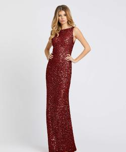Style 4876 Mac Duggal Red Size 6 Jewelled Backless Straight Dress on Queenly