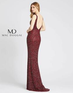 Style 4876 Mac Duggal Red Size 10 Jewelled Backless Straight Dress on Queenly