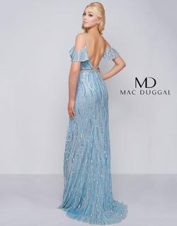 Style 4884 Mac Duggal Blue Size 12 Plus Size Prom Side slit Dress on Queenly