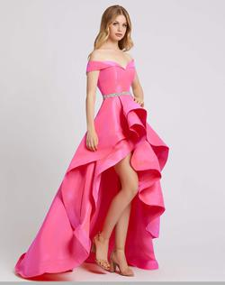Queenly size 4 Mac Duggal Pink Ball gown evening gown/formal dress