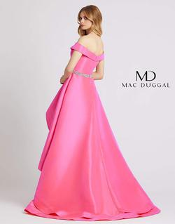 Style 49004 Mac Duggal Pink Size 8 Belt Train Ruffles Ball gown on Queenly