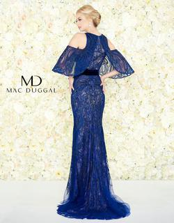 Style 50510 Mac Duggal Blue Size 6 Train Prom Straight Dress on Queenly