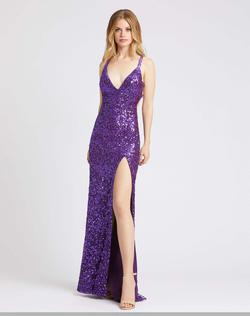 Queenly size 2 Mac Duggal Purple Side slit evening gown/formal dress