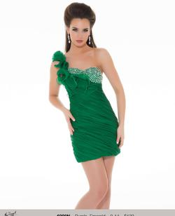Queenly size 2 Mac Duggal Green Cocktail evening gown/formal dress