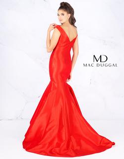 Style 62398 Mac Duggal Red Size 12 Prom Silk Tall Height Mermaid Dress on Queenly
