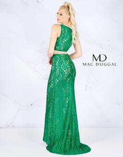 Style 62412 Mac Duggal Green Size 4 Prom Train Two Piece Straight Dress on Queenly