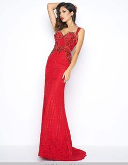 Style 62707 Mac Duggal Red Size 10 Fitted Mermaid Dress on Queenly