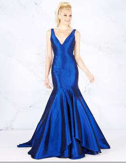 Queenly size 12 Mac Duggal Blue Mermaid evening gown/formal dress
