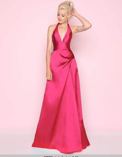 Queenly size 4 Mac Duggal Pink A-line evening gown/formal dress