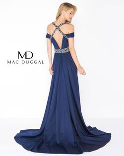 Style 62996 Mac Duggal Blue Size 8 Navy Straight Dress on Queenly