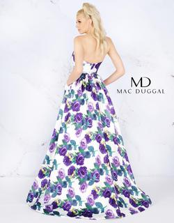 Style 66315 Mac Duggal Purple Size 12 Strapless Floral Ball gown on Queenly