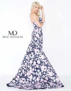 Style 66442 Mac Duggal Multicolor Size 4 Prom Floral Mermaid Dress on Queenly