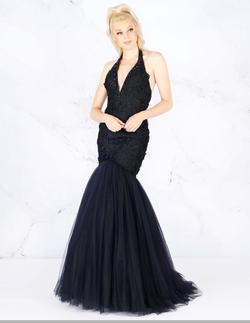 Style 66489 Mac Duggal Black Size 0 Tall Height Lace Mermaid Dress on Queenly