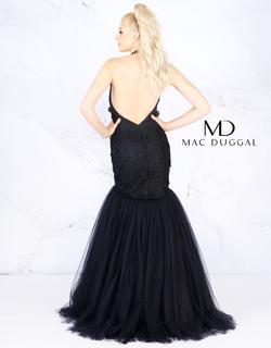 Style 66489 Mac Duggal Black Size 2 Halter Mermaid Dress on Queenly