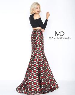 Style 66523 Mac Duggal Multicolor Size 4 Two Piece Mermaid Dress on Queenly