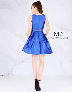 Style 66548 Mac Duggal Blue Size 4 Mini Two Piece Cocktail Dress on Queenly