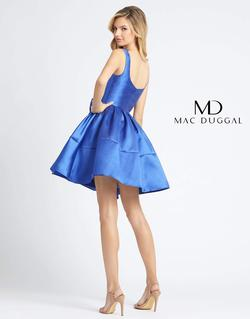 Style 66571 Mac Duggal Blue Size 10 Mini Tall Height Homecoming Cocktail Dress on Queenly
