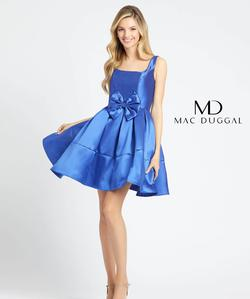 Style 66571 Mac Duggal Blue Size 12 Interview Cocktail Dress on Queenly