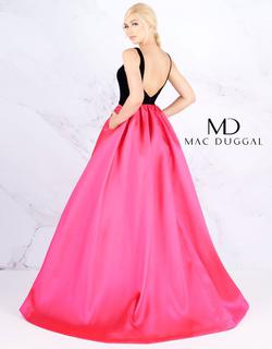 Style 66720 Mac Duggal Pink Size 12 Velvet Ball gown on Queenly