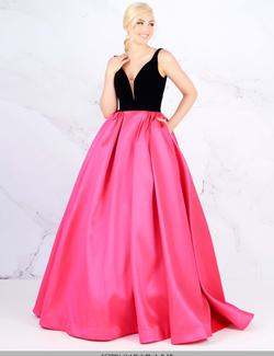 Queenly size 16 Mac Duggal Pink Ball gown evening gown/formal dress