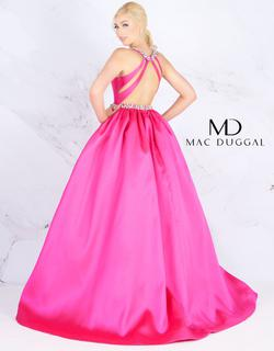 Style 66728 Mac Duggal Pink Size 6 Train Tall Height Pockets Ball gown on Queenly