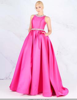 Queenly size 10 Mac Duggal Pink Ball gown evening gown/formal dress