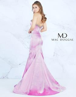 Style 66836 Mac Duggal Purple Size 12 Silver Pink Pageant Mermaid Dress on Queenly