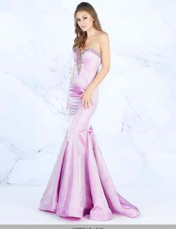 Style 66836 Mac Duggal Purple Size 14 Silver Pink Pageant Mermaid Dress on Queenly