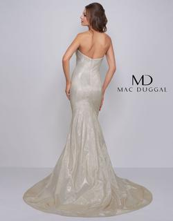 Style 66918 Mac Duggal White Size 12 Prom Pageant Tall Height Ivory Mermaid Dress on Queenly