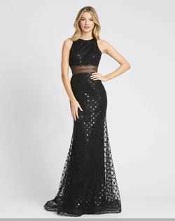 Style 67329 Mac Duggal Black Size 6 High Neck Pageant A-line Dress on Queenly
