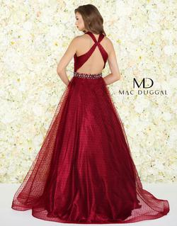 Style 67663 Mac Duggal Red Size 0 A-line Pageant Ball gown on Queenly