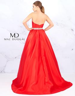 Style 67685 Mac Duggal Red Size 14 Strapless A-line Pageant Ball gown on Queenly