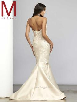 Style 7501 Mac Duggal White Size 10 Strapless Pageant Mermaid Dress on Queenly