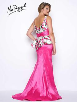 Style 77172 Mac Duggal Pink Size 20 Floral V Neck Mermaid Dress on Queenly