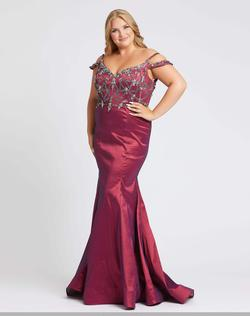 Style 77538 Mac Duggal Cranberry Size 18 Prom Pageant Mermaid Dress on Queenly