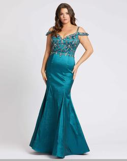 Style 77538 Mac Duggal Teal Size 18 Prom Blue Pageant Mermaid Dress on Queenly