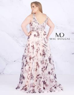 Style 77542 Mac Duggal Pink Size 16 Train V Neck A-line Dress on Queenly