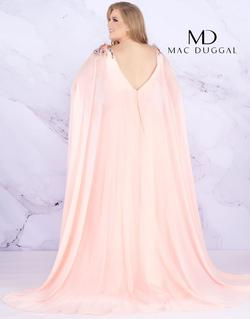 Style 77551 Mac Duggal Pink Size 22 Cape Pageant Side slit Dress on Queenly