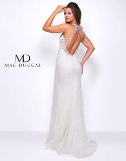 Style 77571 Mac Duggal White Size 2 Pageant Straight Dress on Queenly