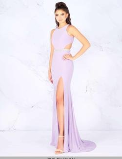 Style 77614 Mac Duggal Purple Size 10 Train Lavender Lilac Side slit Dress on Queenly