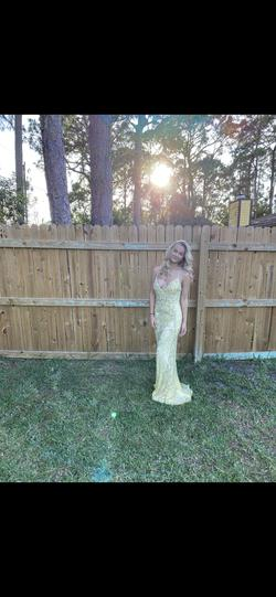 Queenly size 2  Yellow Straight evening gown/formal dress