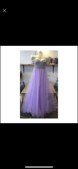 Queenly size 10  Purple Train evening gown/formal dress