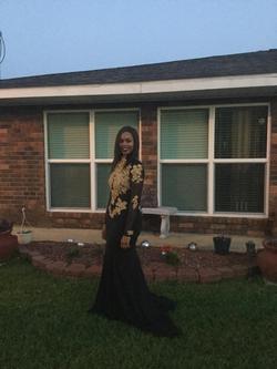 Queenly size 12  Black Side slit evening gown/formal dress