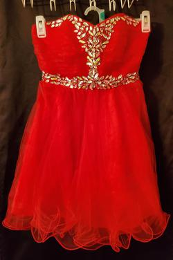 Style 136336 De Red Size 6 Pageant Cocktail Dress on Queenly