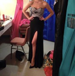 La Femme Black Size 2 Pageant Sweetheart Side slit Dress on Queenly