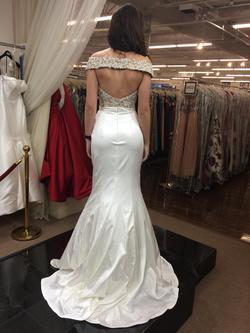 Sherri Hill White Size 2 Plunge Pageant Mermaid Dress on Queenly