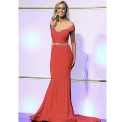Queenly size 2 Jovani Red Mermaid evening gown/formal dress